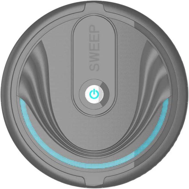 Smart Vacuum Robot Cleaner,Fineser USB Rechargeable Smart Sweeping Robot Mini Home Cleaning Machine Vacuum Dust Cleaner for Pet Hair, Dirt, Dust, Carpets, Hardwood Floor Floors (Black)
