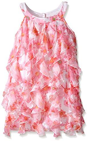 Sundress Kate Mack (Kate Mack Little Girls' Dottie Daisy Ruffle Dress, Multi, 5)