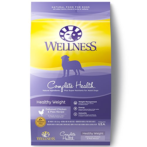 Wellness Complete Health Natural Dry Healthy Weight Dog Food, Chicken & Peas, 13-Pound Bag