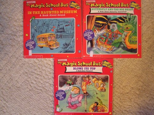 Magic School Bus Blows its Top,Butterfly and the Bog Beast, In the Haunted Museum Set of 3
