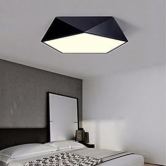Modernes, minimalistisches Wohnzimmer, LED Deckenleuchte, Kreative ...