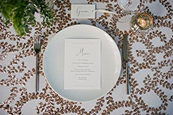 B-COOL Geometric Pattern Sequin Tablecloth Luxury Diamond Table 72 Round Overlay for Gatsby Wedding Art Deco Cake Table Party Decor