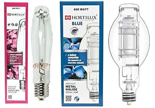 Eye Hortilux Metal (EYE Hortilux 600w Lamp Bundle (Super HPS + Blue Daylight MH))