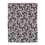 Disney-Mickey-Mouse-Grey-Navy-And-Red-Super-Soft-Plush-Baby-Blanket-Grey-Nay-Red