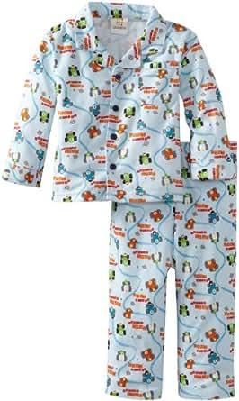 ABSORBA Baby Boys' Cars Pajama Set, Blue Print, 12 Months