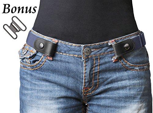 WERFORU No Buckle Women/Men Stretch Belt Elastic Waist Belt for Jeans Pants Dresses (Buckle Around Wrap)