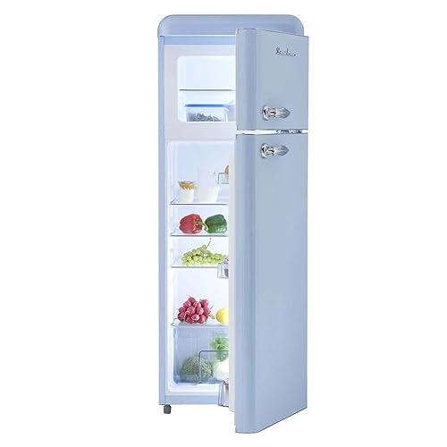 Gut Retro Kühlschrank Hellblau Glanz A+ 208 Liter Kühl /Gefrierkombi