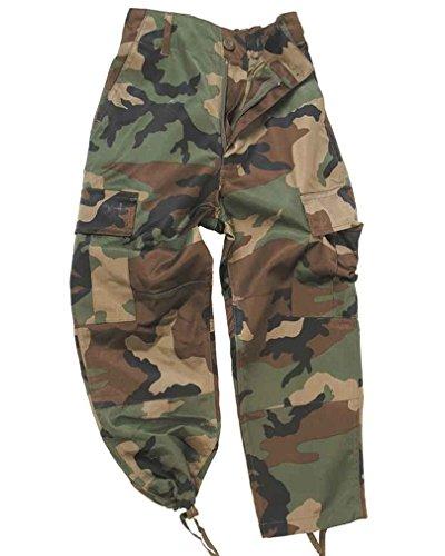 Da Woodland Mil Bambino tec Mimetici Bdu Pantaloni Americano Esercito Pqpx8w