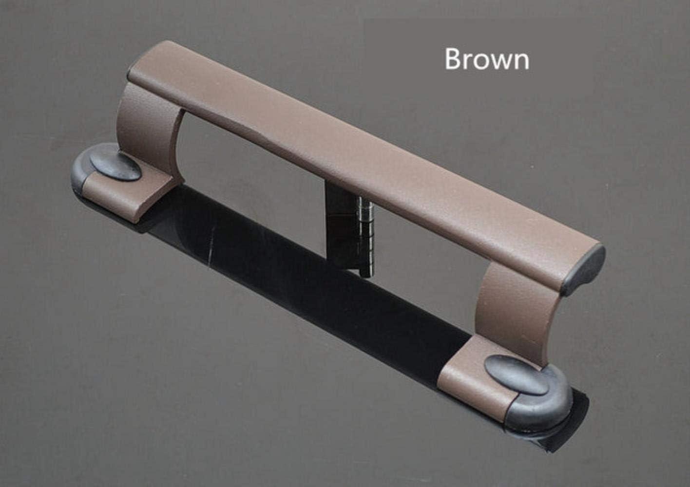 Ensalada manos puerta corredera de aleación de aluminio puerta de plástico con la manija de sacudida tirador, marrón