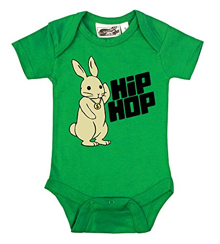 My Baby Rocks Hip Hop Bunny Rabbit Kelly Green One Piece (12-18 Months) by My Baby Rocks