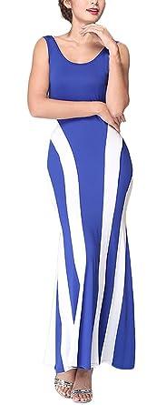 Damen Maxikleider Lange Kleider Empirekleider Trägerkleid 2017  Rundhalsausschnitt Nadelstreifen Rückenfrei Paket Hüfte Herbst Maxi Die N