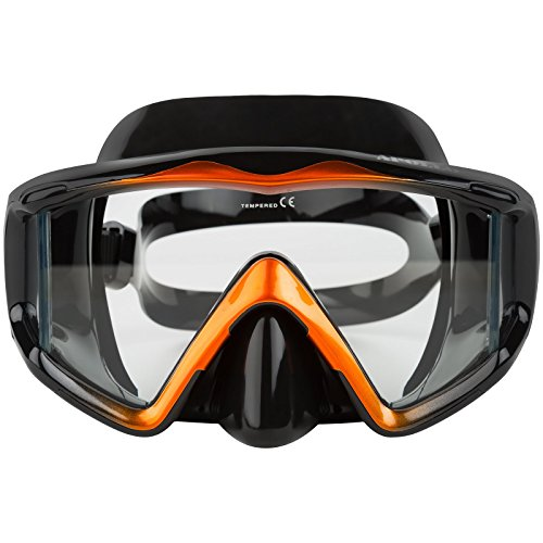(Adventure At Nature Apollo Wide Black Dive Mask For Scuba Diving & Snorkeling)