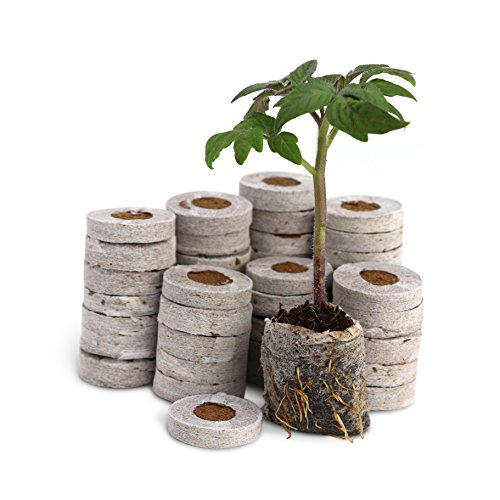 Stronger Kit Starter - Fiber Soil Direct Plant Seed Starters (36mm) – 48 Pods for use with our Seed Starter Kit or In Any Tray. Expands with Water, Grow Herbs, Flowers and Vegetables. No Messy Soil Mix, Easy and Successful.