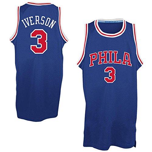 Men's Allen Iverson #3 Basketball Jersey Throwback Basketball Jersey - Royal