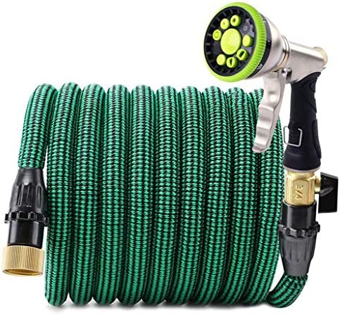 Sturdy Magic Expanding Hose, Expandable Garden Hose with 9 Spray Nozzle, Leakproof Flexible Garden Water Hose Solid Brass Connector