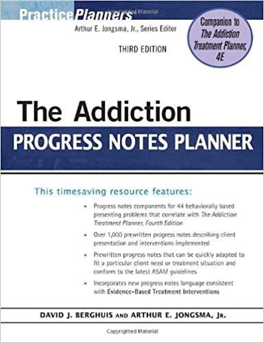 The addiction progress notes planner 9780470402764 medicine the addiction progress notes planner 3rd edition fandeluxe Image collections
