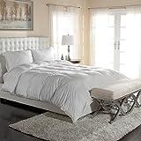 "Luxury Silky Cotton Sateen Oversized PrimaLoft Comforter - 400 TC Pima Cotton - Hypoallergenic Down Alternative - Super King 120"" x 98"""