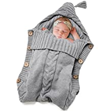 Newborn Baby Swaddle Blanket-Truedays Large Swaddle Best Soft Unisex for Boys or Girls (Grey)