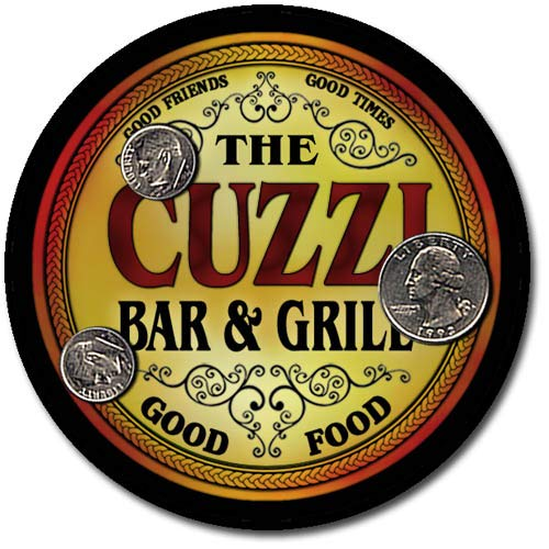 (Cuzzi Family Bar and Grill Patriotic Rubber Drink Coaster)