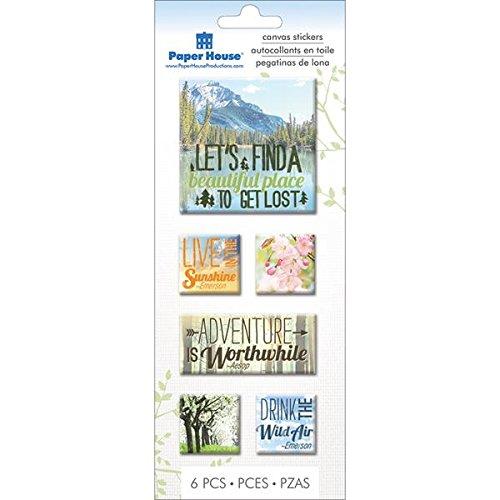 Paper House Productions STCA-0011E - Pegatinas de Lienzo (3 Unidades)