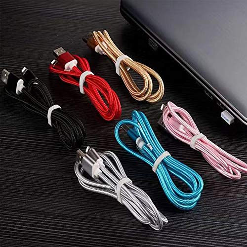 USB Braided Fast Charging & Data Transfer Cable Compatible with iPhone 6/7/8 X/XS/XR/X Max Charging (Red)