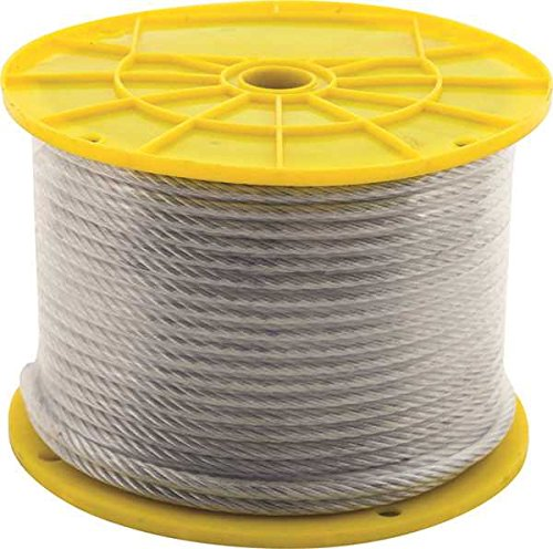 7X7 AIRCRAFT CABLE, PVC COATED, 3/32 IN. X 1/8 IN. X 250 FT. -  THE MIBRO GROUP, 505122
