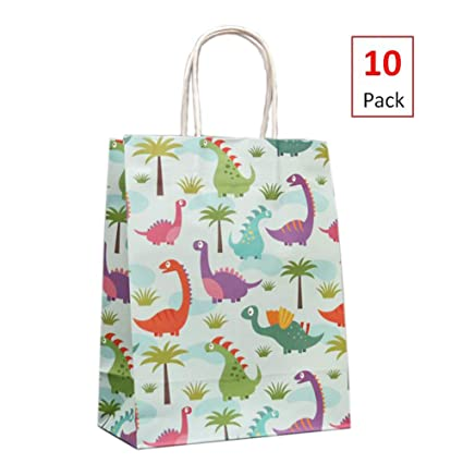 10 pack dinosaur party bags dinosaur party supplies gift bags for boys and girls baby shower