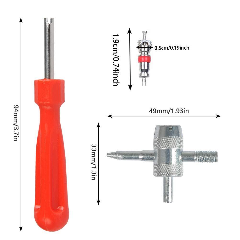 extractor de v/álvulas de una cabeza Gaosheng extractor de v/álvulas de neum/áticos 4 herramientas de reparaci/ón de v/álvula Extractor de v/ástago de v/álvula