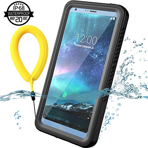 Price comparison product image Temdan LG G6 Waterproof Case with Kickstand and Floating Strap Shockproof Case for LG G6