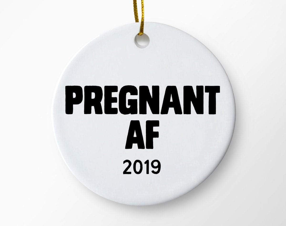 Dozili Embarazada Af 2019 Adornos de Navidad, anuncio de ...