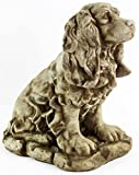 Dog Statue Cocker Spaniel Outdoor Garden Statues Puppy Cement Dog Figure Doggy Sculpture For Sale
