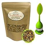 Ayurvedic Anti-Inflammatory tea - Organic loose leaf Turmeric, Ginger, Lemongrass and Licorice (loose tea with Infuser, 4 oz.)