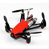 HOBBYMATE Q100 Micro FPV Brushed RC Quadcopter Frame Kit Combo W/ 8520 Motor, N32 Brused FC, Micro VTX Camera, Compatible DSM2 Receiver, Battery, Blade, Red Canopy