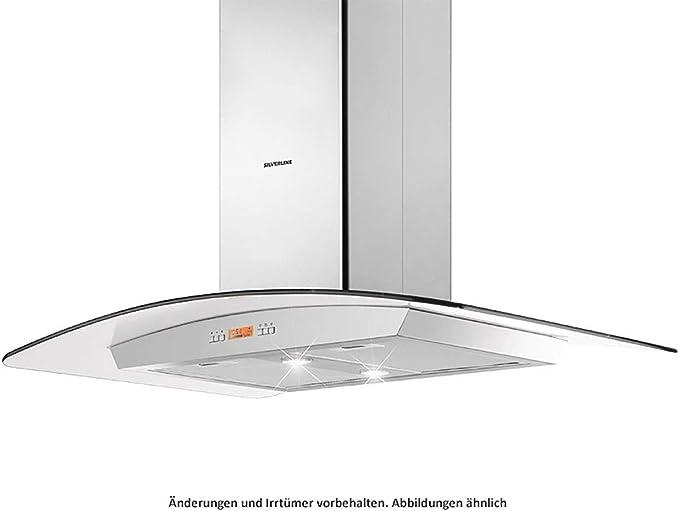 Silverline Infinity Isola INBI 900 E - Tapa para isla (acero inoxidable y cristal, 90 cm): Amazon.es: Grandes electrodomésticos