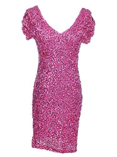Pink Sequin Dress: Amazon.com