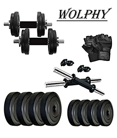 da7ce68bd Buy WOLPHY 10 KG Dumbbell Set Online at Low Prices in India - Amazon.in