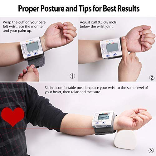 Wrist Blood Pressure Monitor by LotFancy, Sphygmomanometer User,