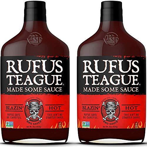 Rufus Teague: BBQ Sauce - 16oz Bottles - Premium BBQ Sauce - Natural Ingredients - Award Winning Flavors - Thick & Rich Sauce - Gluten-Free, Kosher, & Non-GMO - 2pk
