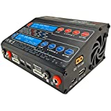 Crazepony UP100AC Dual Balance Battery Charger 100W AC DC 2 Individual Charger Ports for LiPo etc with USB Charge Port