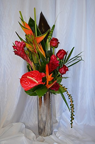 Home Comforts LAMINATED POSTER Tropical Vase Flowers Ginger Still Life Bouquet Poster 24x16 Adhesive Decal