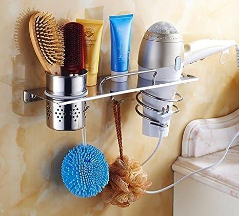 NabothT Rack baño Ducha secador de Pelo Mural secador de Toallas de Rack de Almacenamiento Multifuncional Luminosa del Tubo de Aire de su Vida: Amazon.es: ...