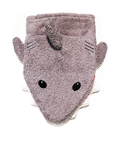- Organic Cotton, Washcloth Mitt Shark Puppet, Large by Furnis