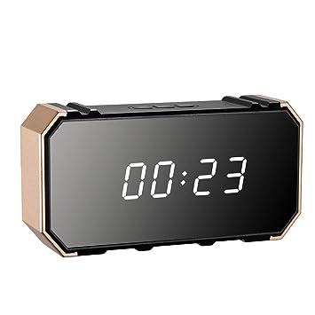ETbotu - Reloj Despertador inalámbrico con cámara HD 1080P WiFi con visión Nocturna: Amazon.es: Electrónica