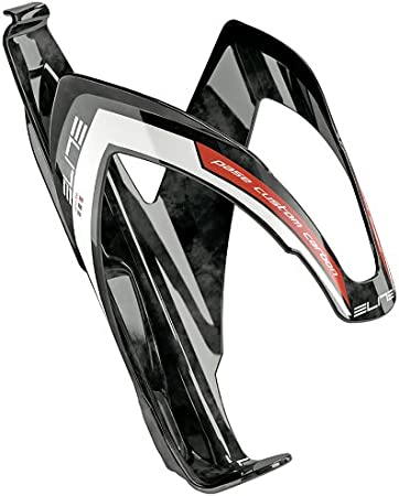 Elite Custom Race Water Bottle Cage White//Red//Grey White Red Adapting Glossy SRL