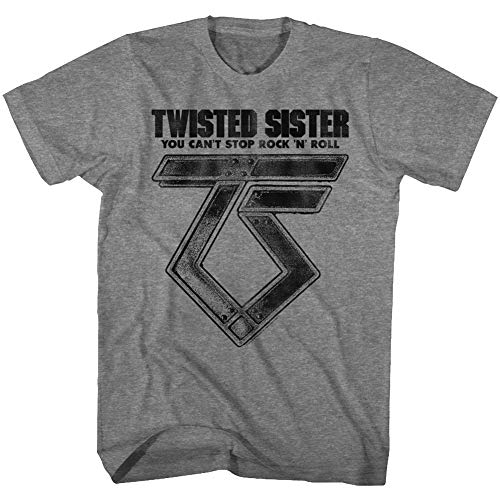 American Classics Twisted Sister Heavy Metal Band Can't Stop Rock'n'Roll Adult T-Shirt -