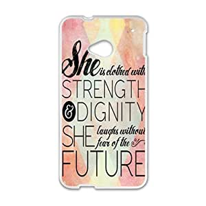 she is dathed wite strength Phone Case for HTC One M7