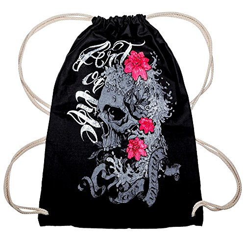 Top Fuel Fashion Rucksackbeutel Skull & Flowers