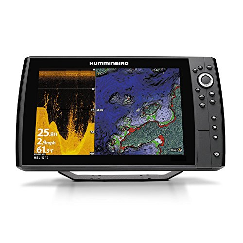 Humminbird 410370-1 Helix 12 Chirp Di GPS G2N Fishing Charts & Maps (Best Mid Range Fish Finder)