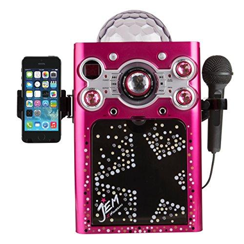 Sakar Jem & Holograms KO2-06095 CDG Karaoke Machine with 1 - Kids With Karaoke Screen Machine