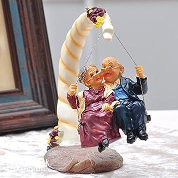 Bo At Balançoiremode Poupées Figurines Résine Pour Le Vieux